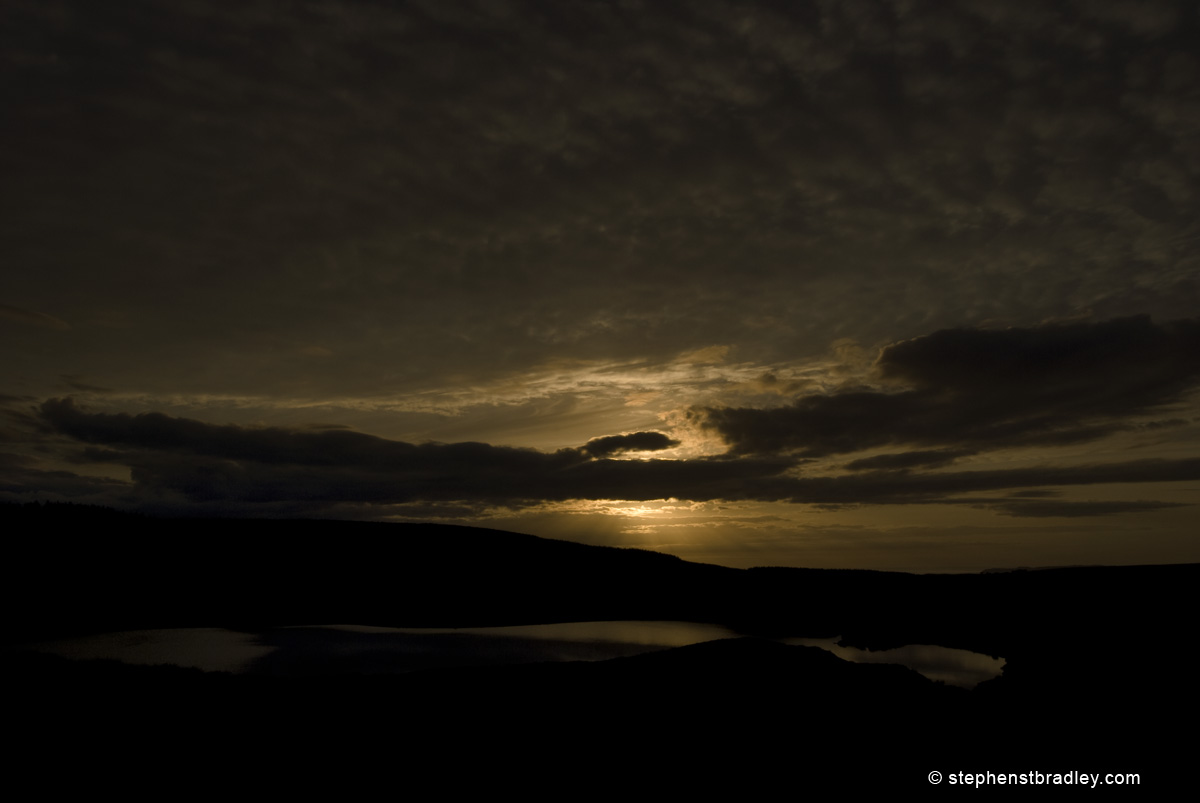 Landscape photograph of sunset at Loughareema, Northern Ireland - photo 1672.