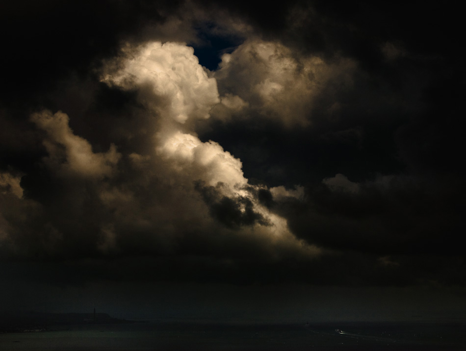 Belfast Lough beneath dramatic sky by Stephen Bradley, fine art photo icon 2658.