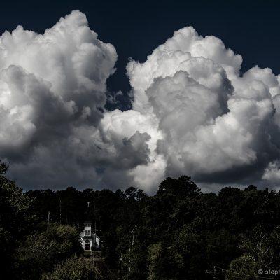 Clouds over Tate, Pickens County, Georgia, USA.
