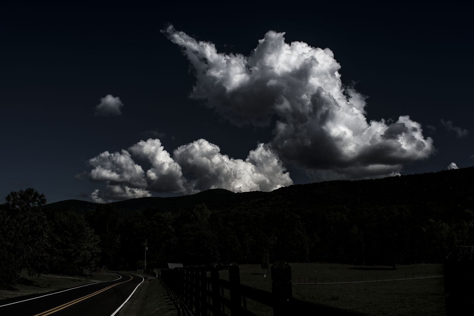 Cloudscape photograph taken from Salem Church Road, Georgia, USA - image 1397 by Stephen S T Bradley, professional landscape photographer UK and USA.
