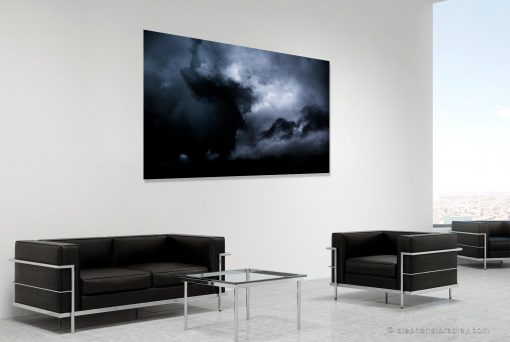 Against All Odds - fine art landscape photograph 5714 by photographer Stephen S T Bradley shown in room setting.