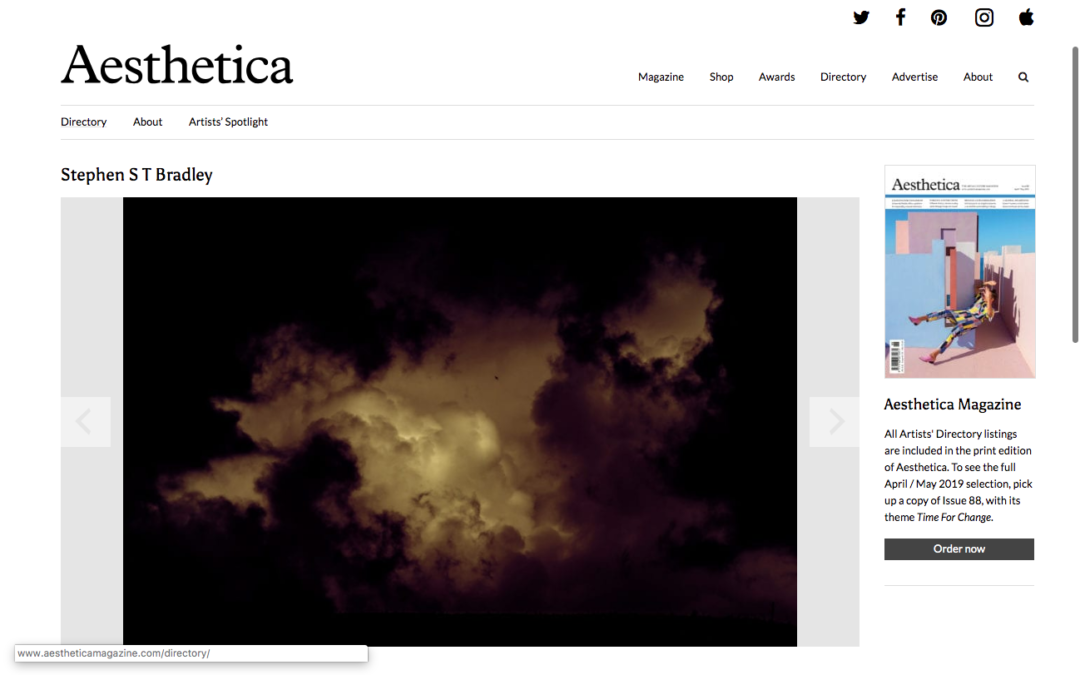 Aesthetica artists directory - Stephen S T Bradley fine art photographer image 1