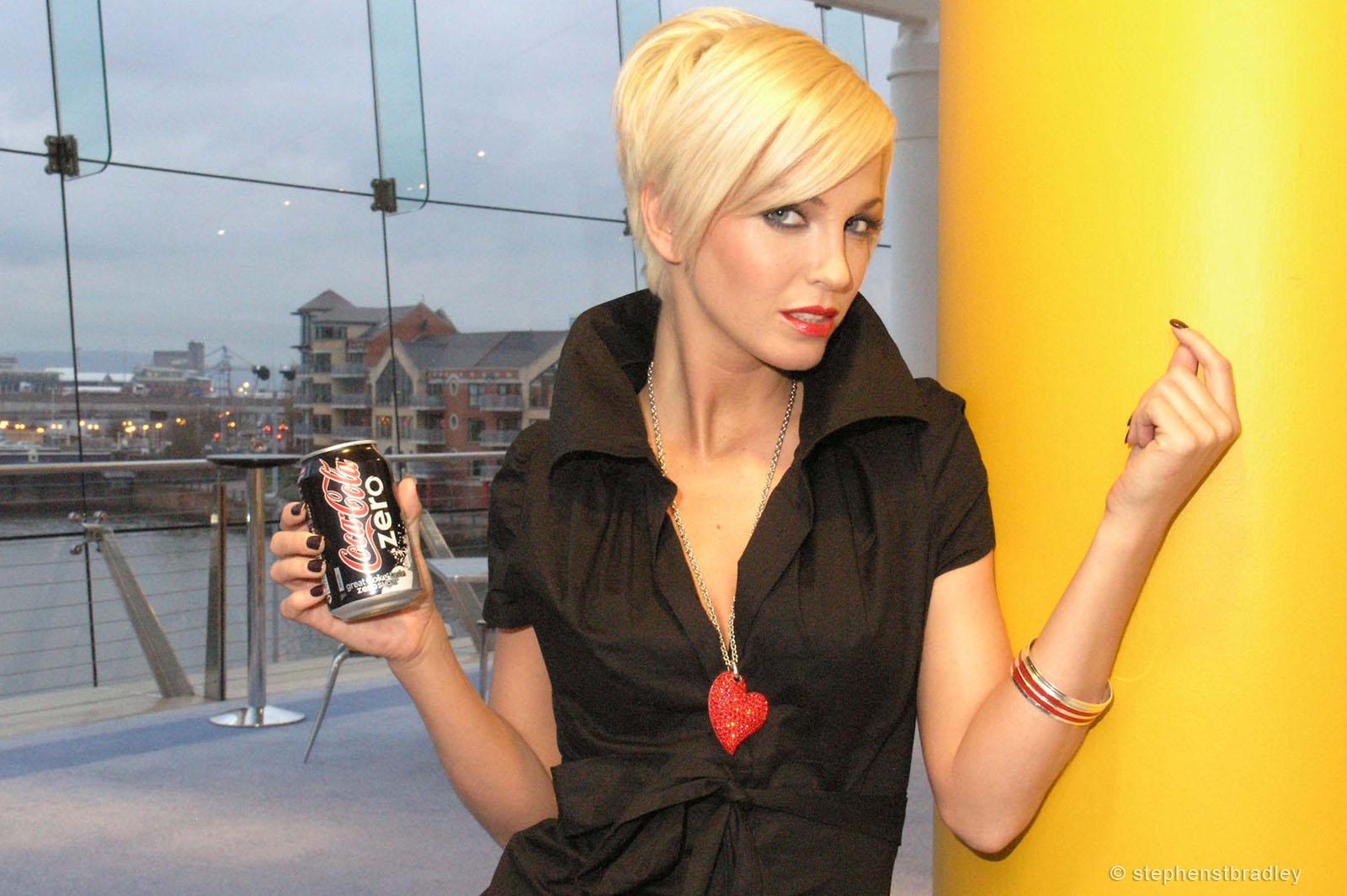 R Photographer Dublin Ireland photo 1014113 - Sarah Harding Girls Aloud promoting Coca Cola Zero for Edelman PR