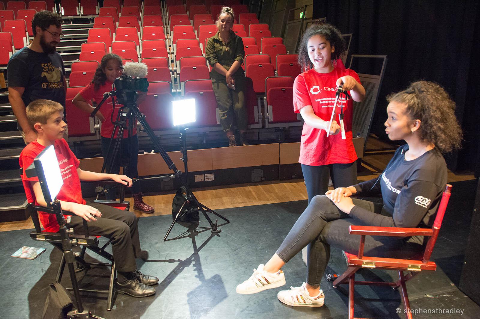 PR Photography of children learning video production skills, photo 8457 - PR photographer Dublin, Ireland