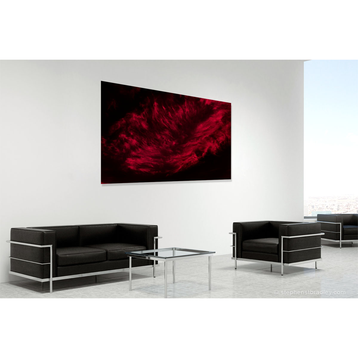Vapour Red 6762. Fine art photo of Ireland in room setting by Stephen S T Bradley