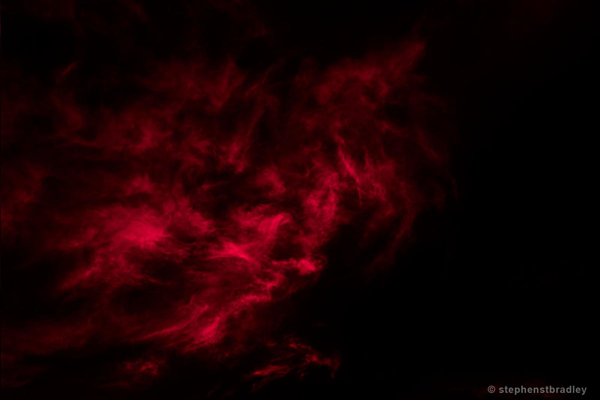 Vapour Red 6760. Limited edition fine art photo of clouds over Ireland by Stephen S T Bradley. Featured image