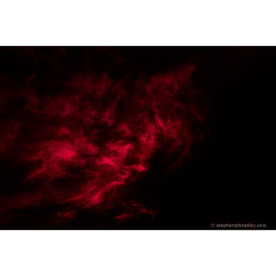 Vapour Red 6760. Limited edition fine art photo of clouds over Ireland by Stephen S T Bradley