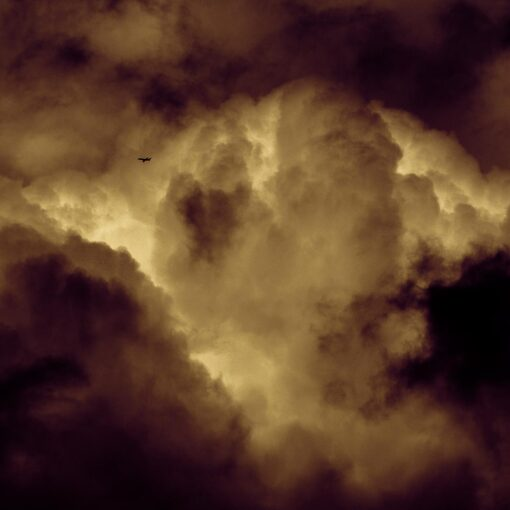 Silent Redux - detail section of a contemporary limited edition fine art photo of clouds over Ireland by Stephen S T Bradley