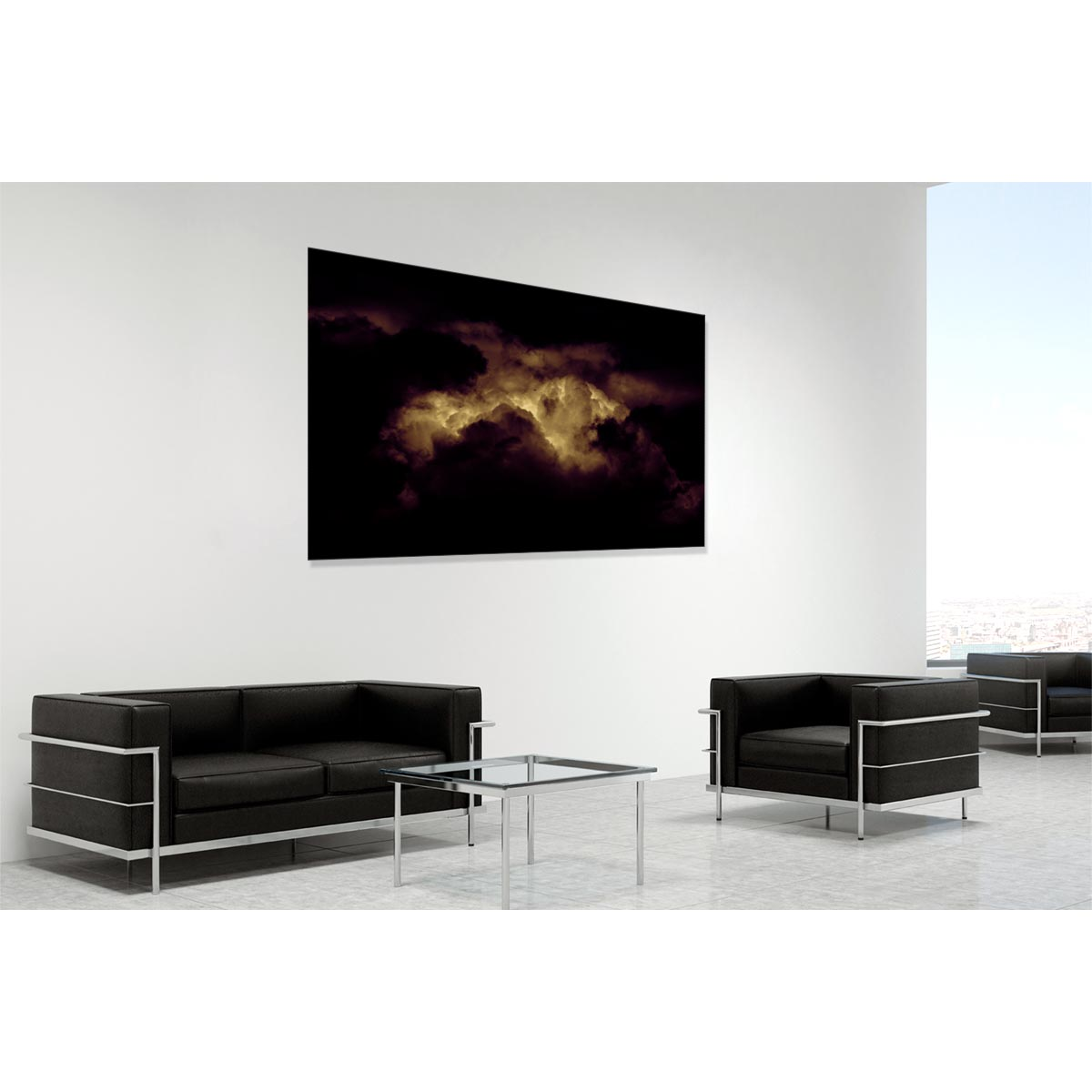 Silent Redux - contemporary limited edition fine art photograph by Stephen S T Bradley shown in a room setting