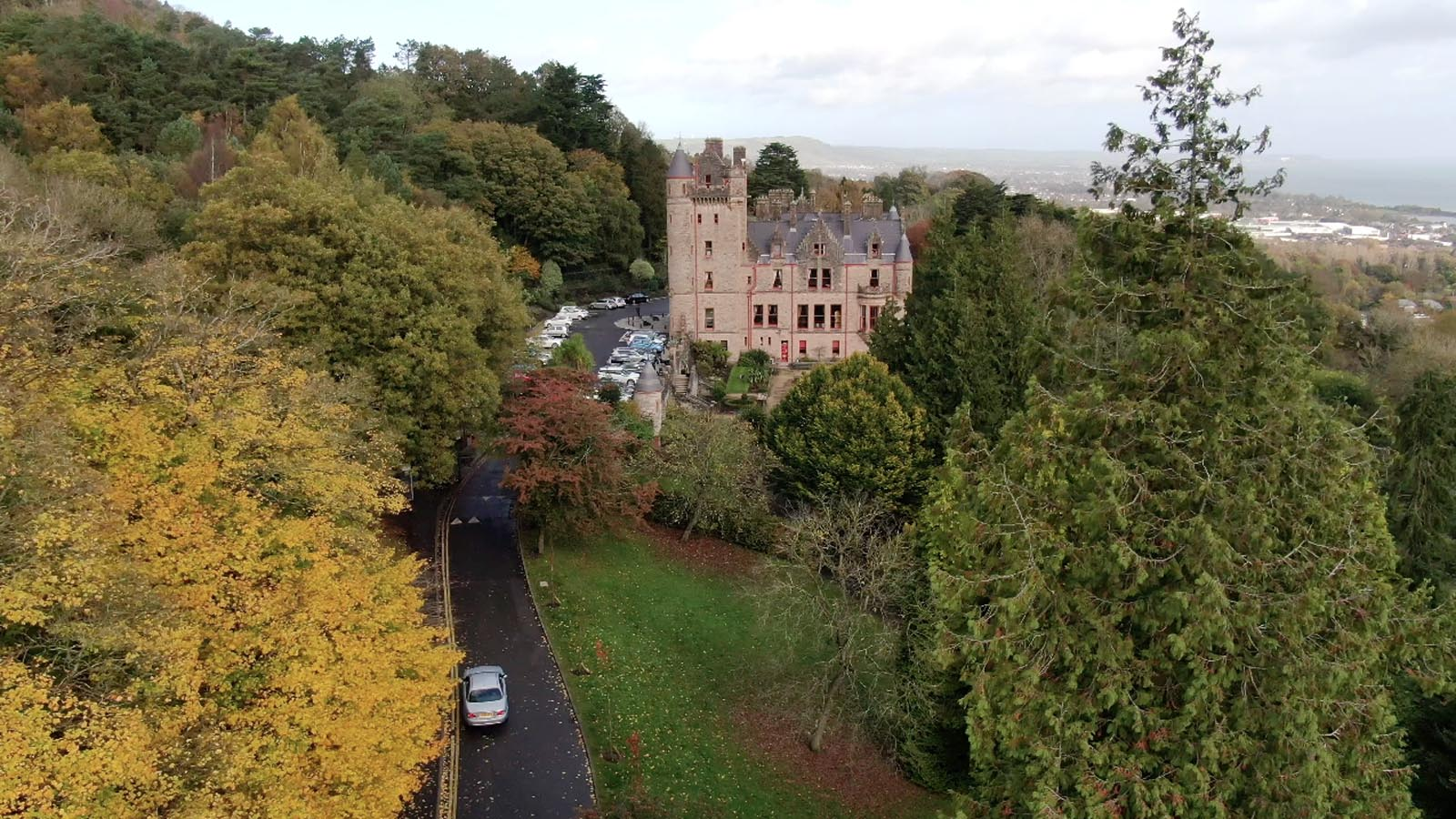 Photo: Commercial, residential, property drone photography and video Dublin, Wicklow, Monaghan, Cavan, Ireland portfolio - screenshot 1 of Belfast Castle video
