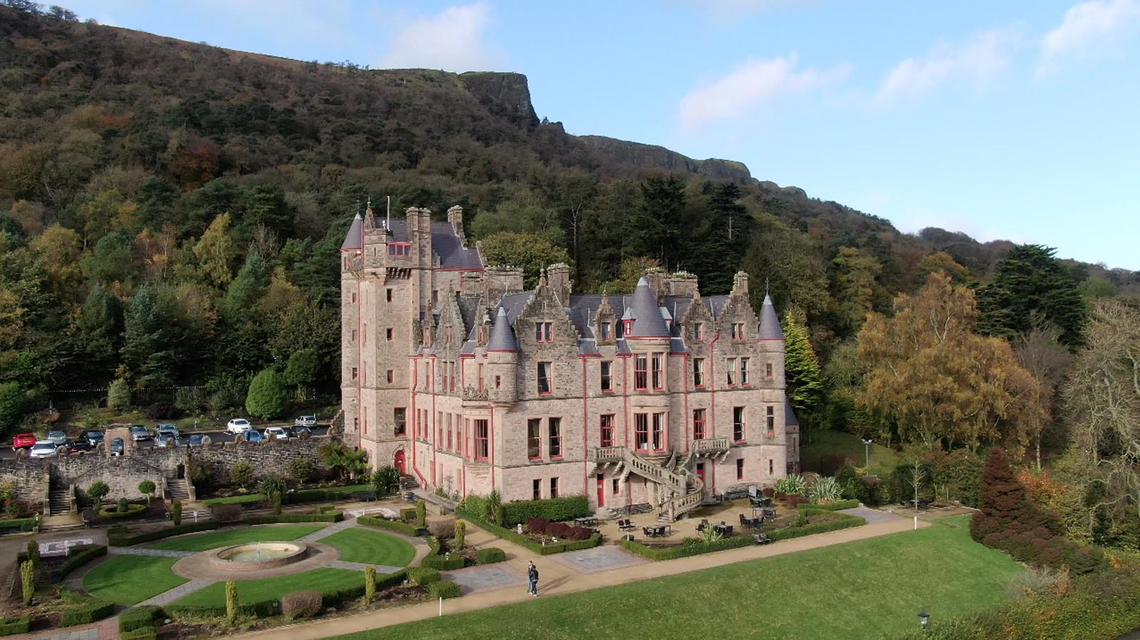 Photo: Commercial, residential, property drone photography and video Dublin, Wicklow, Monaghan, Cavan, Ireland portfolio - screenshot 2 of Belfast Castle video