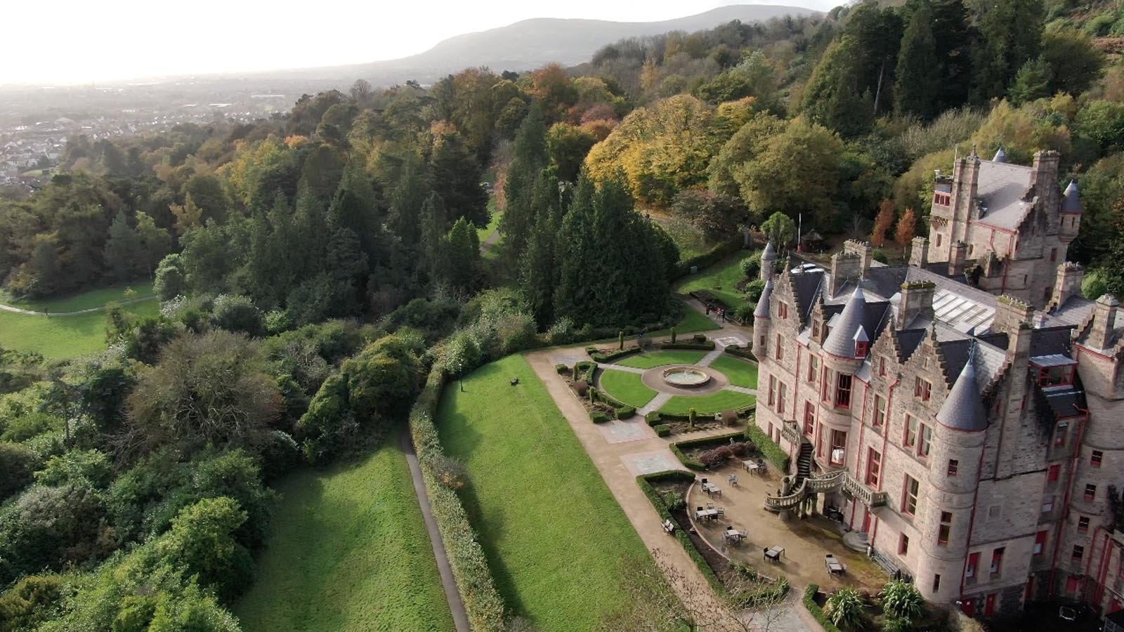 Photo: Commercial, residential, property drone photography and video Dublin, Wicklow, Monaghan, Cavan, Ireland portfolio - screenshot 4 of Belfast Castle video