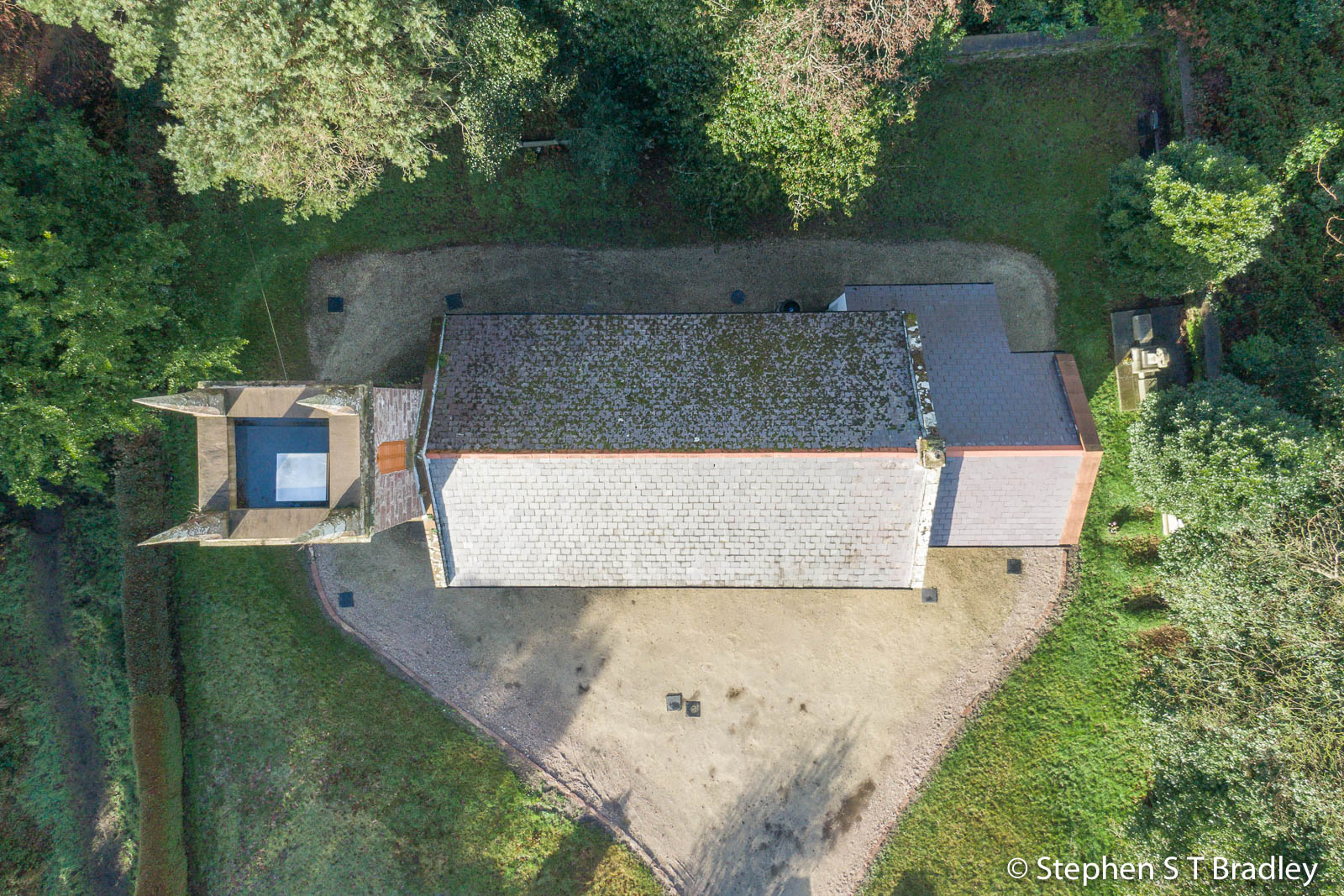 Aerial drone photography and video production services Dublin and Ireland portfolio - The Old Church Centre, Cushendun, aerial photo 0001-2