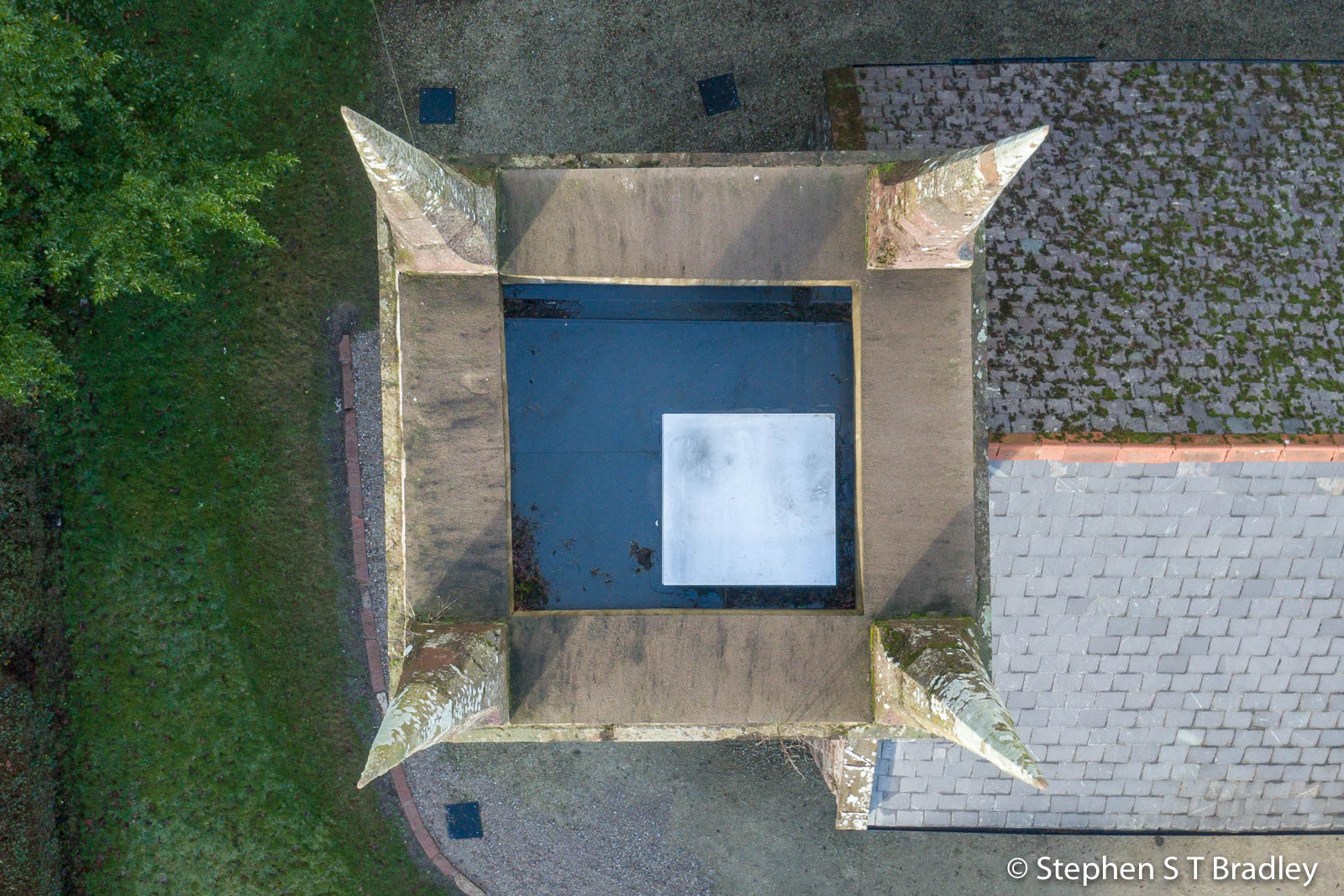 Aerial drone photography and video production services Dublin and Ireland portfolio - The Old Church Centre, Cushendun, aerial photo 0001-3
