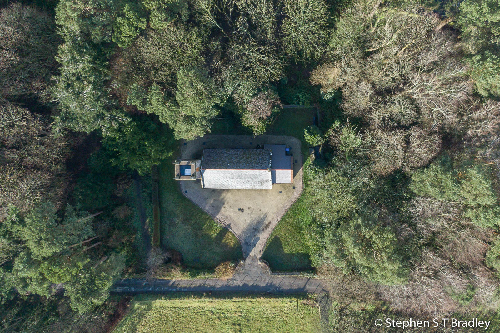 Aerial drone photography and video production services Dublin and Ireland portfolio - The Old Church Centre, Cushendun, aerial photo 0001