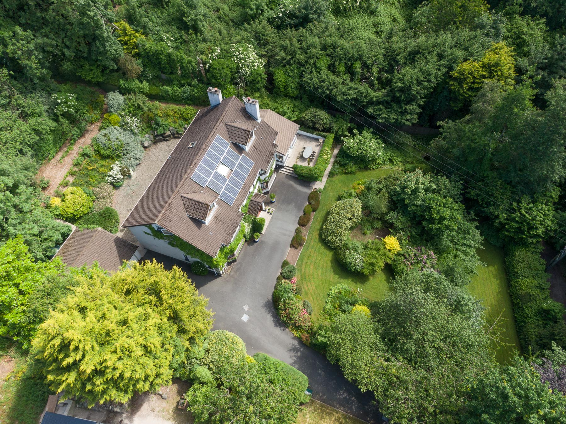 Aerial drone photography and video production services Dublin and Ireland portfolio - residential photography of Glenside, Northern Ireland. Photo 0001