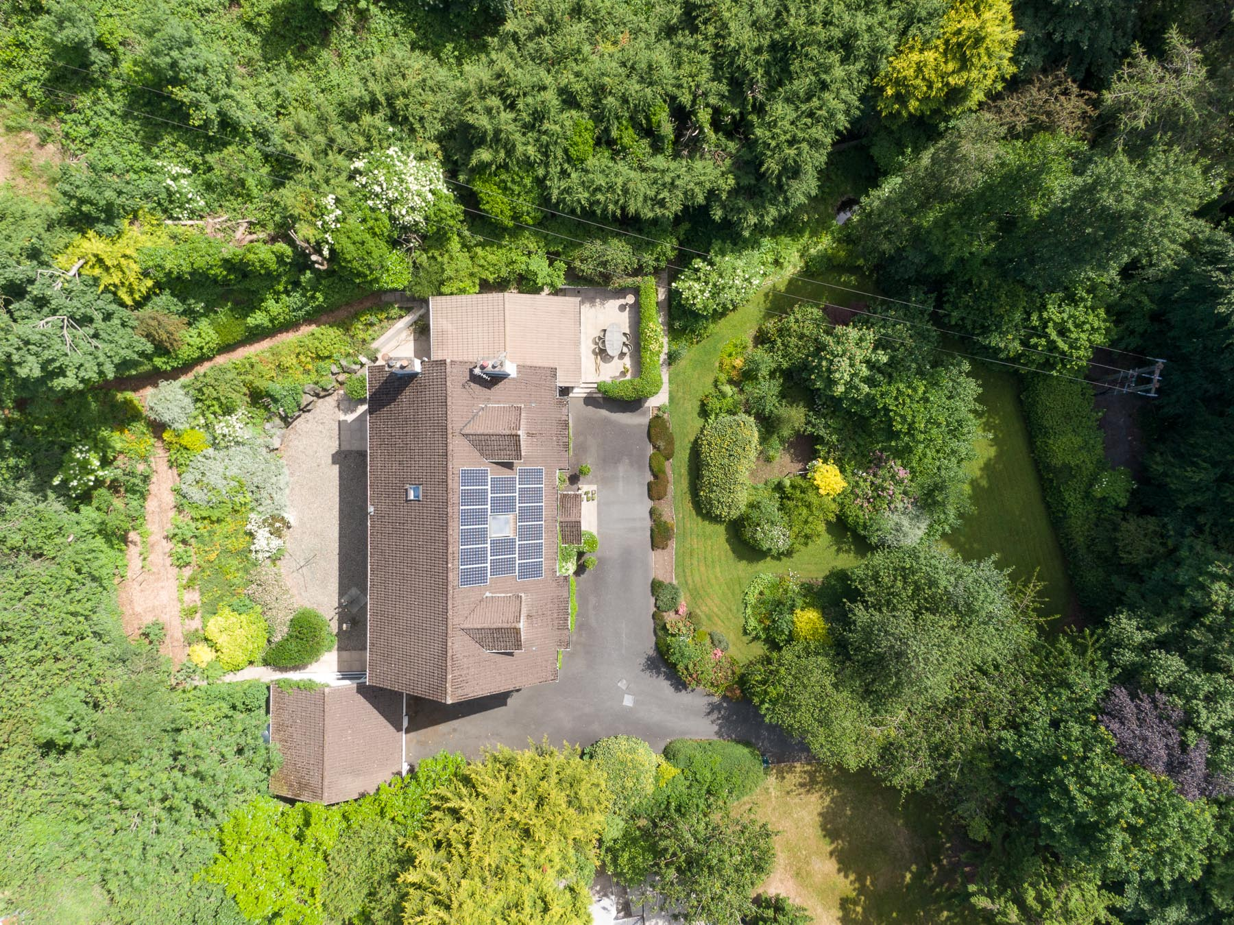 Aerial drone photography and video production services Dublin and Ireland portfolio - residential photography of Glenside, Northern Ireland. Photo 0004
