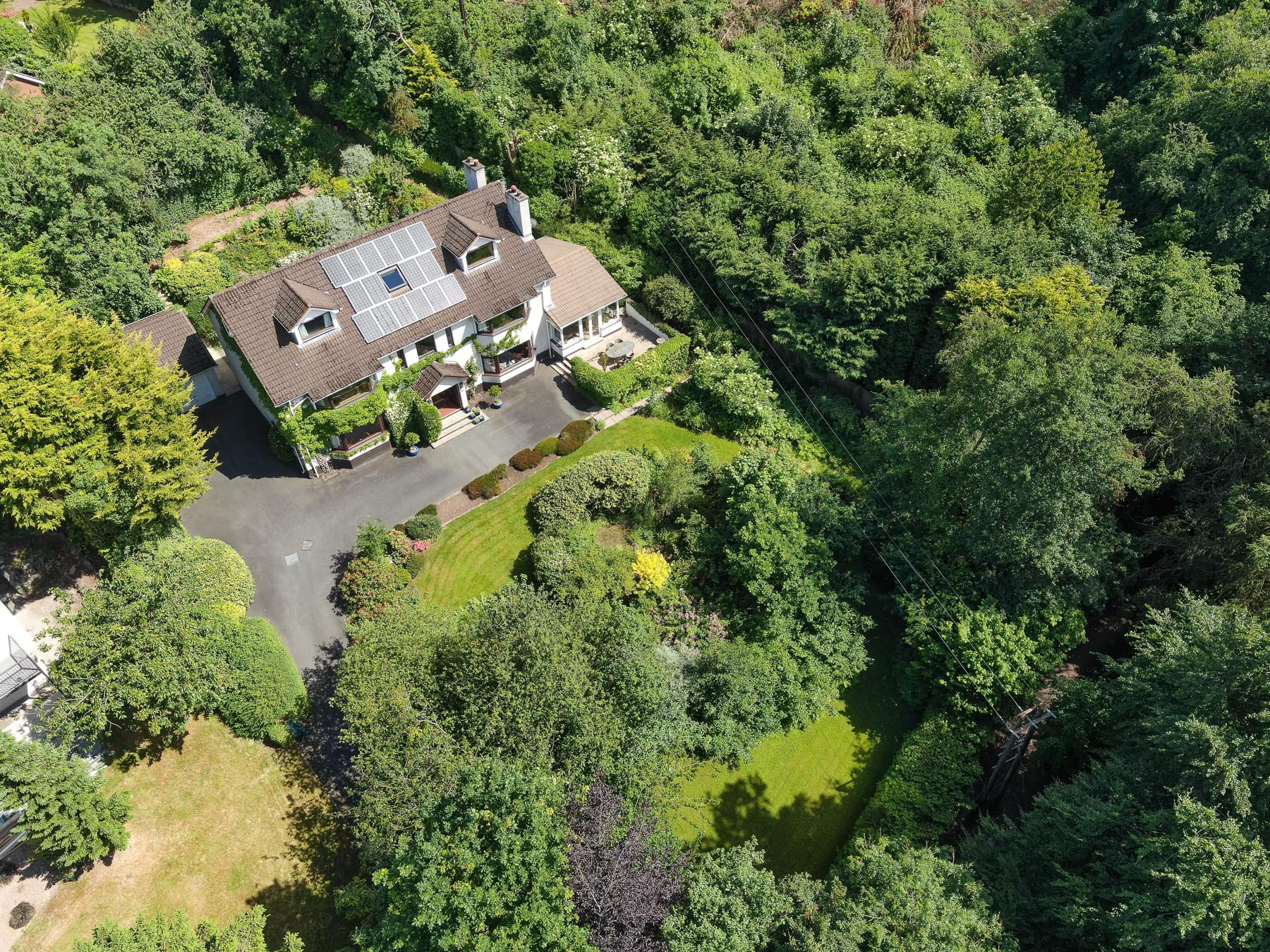 Aerial drone photography and video production services Dublin and Ireland portfolio - residential photography of Glenside, Northern Ireland. Photo 0010