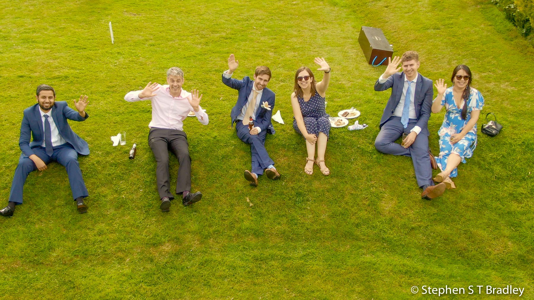 Aerial video of country house wedding at Birdsgrove, Derbyshire, UK, by Stephen S T Bradley - aerial drone photographer and video production services in Dublin and throughout Ireland. Screenshot reference 17